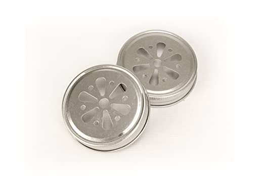 Kate Aspen Mason Jar Lids, Flower, Set of 12
