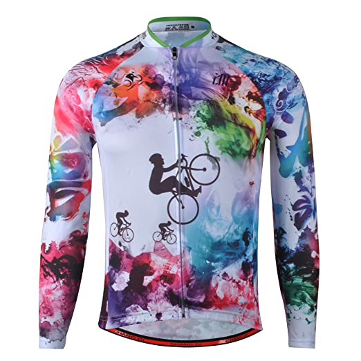 291ba0581 Image Unavailable. Image not available for. Color  zm Men s Spring Cycling  Jersey Long Sleeve Road Autumn Bike Jersey Jacket