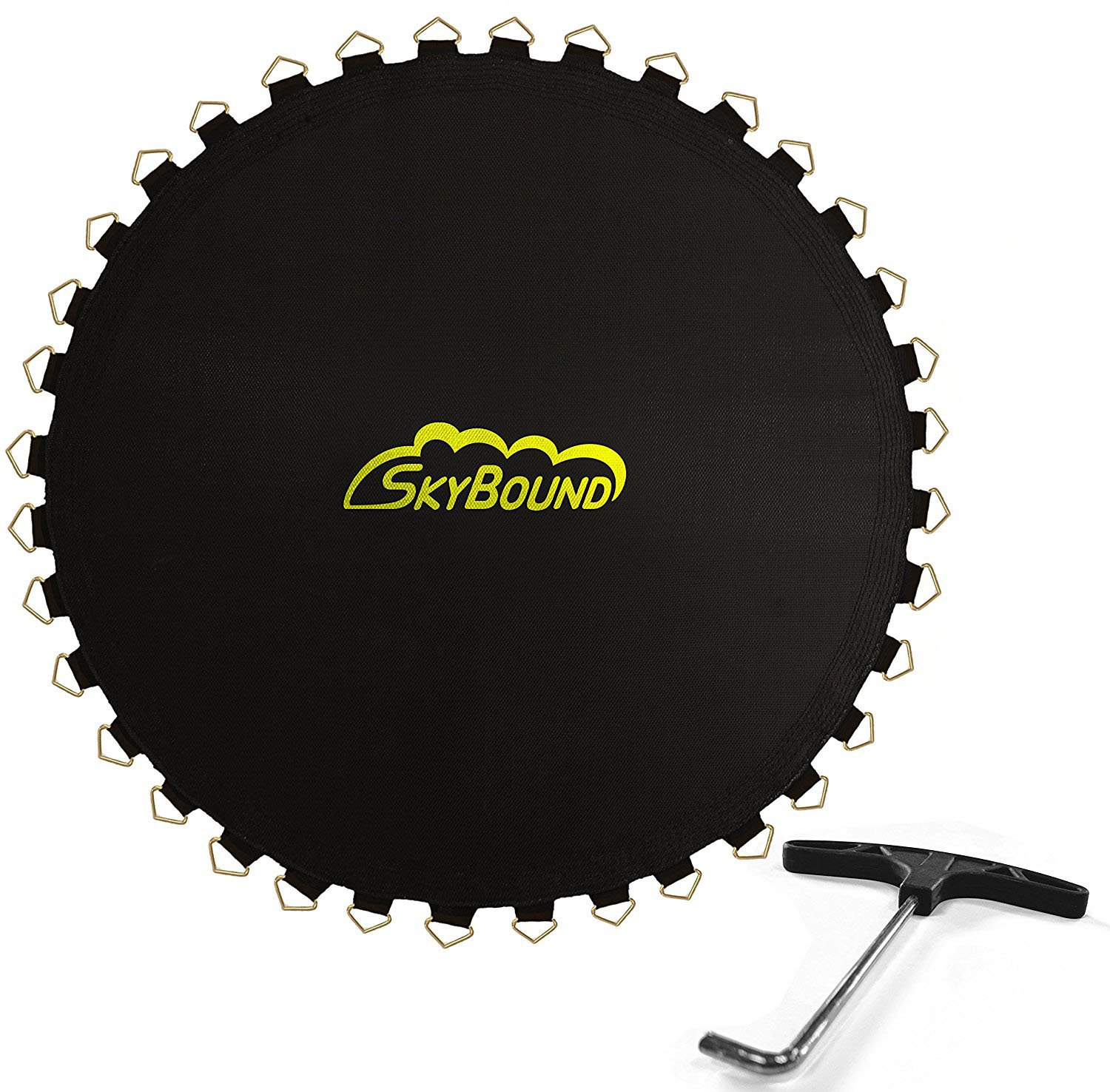Skybound Replacement Trampoline Mat with Spring Tool, 72 Rings & 127'' Wide (fits 5.5'' Springs), 12ft Diameter Frame