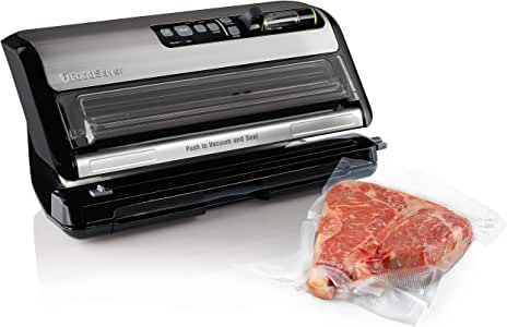 FoodSaver FM5200 2-in-1 Automatic Vacuum Sealer Machine with Express Bag Maker   Safety Certified   Silver