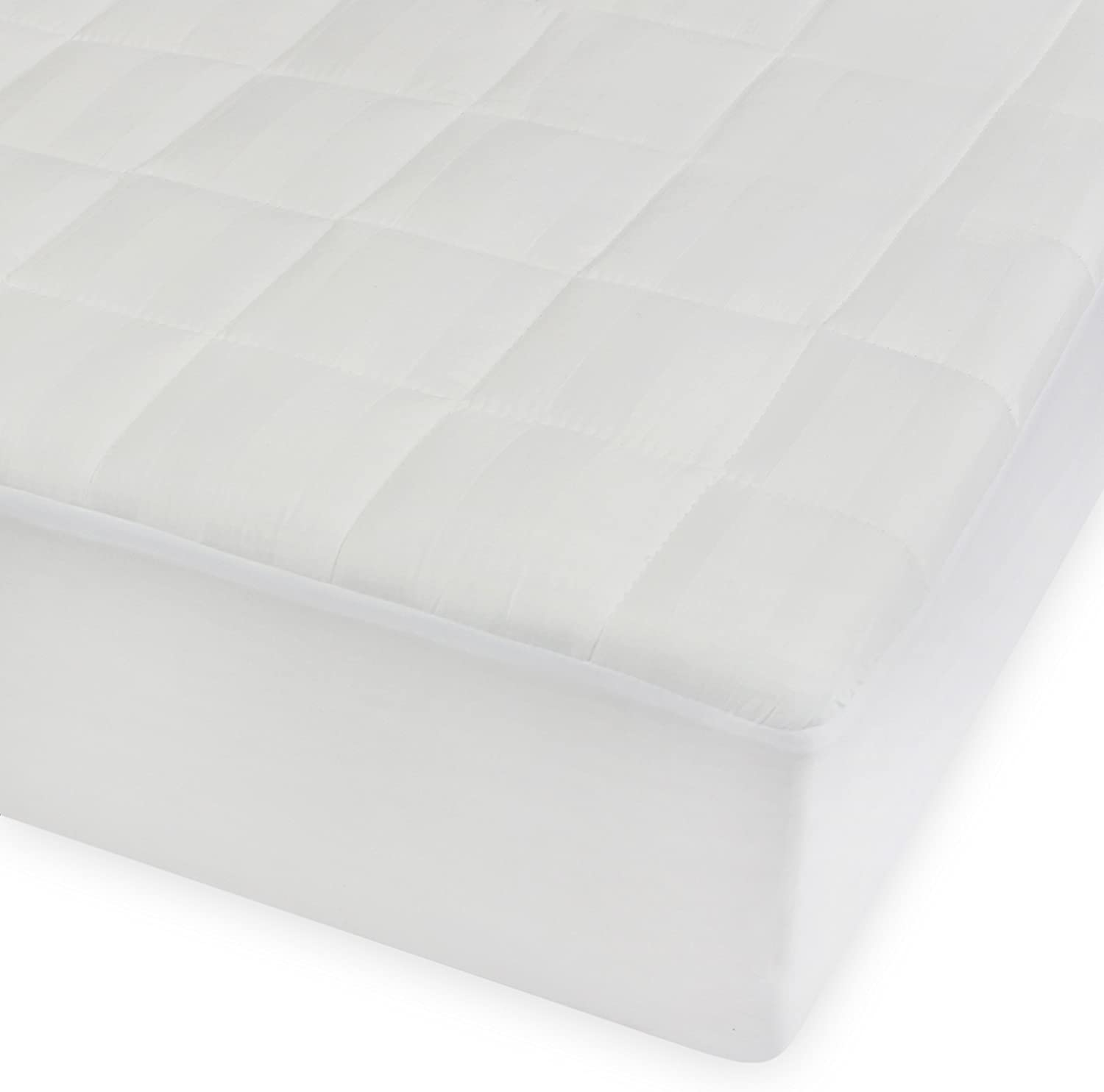Century Home Comfort Home Quilted Cotton Mattress Pad, Twin