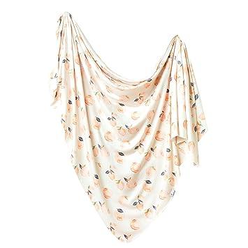 44d3c27268 Image Unavailable. Large Premium Knit Baby Swaddle Receiving  Blanket quot Caroline quot  by Copper Pearl