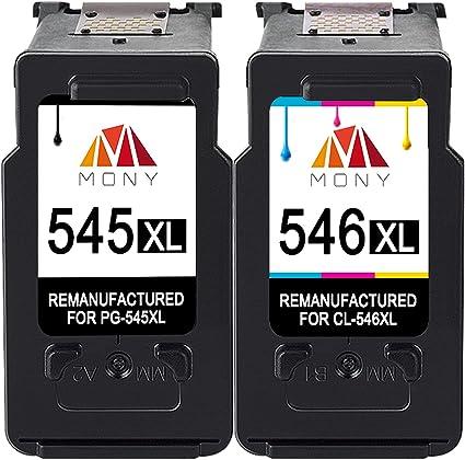 Mony Remanufacturado Cartuchos de Tinta Canon PG 545 Cl 546 XL (1 ...