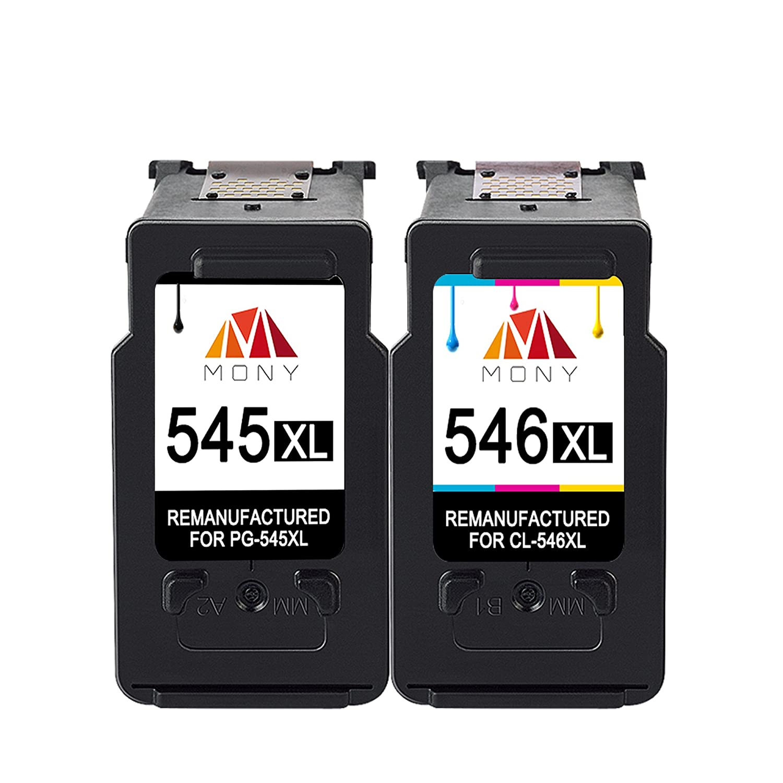 Mony Remanufacturado Cartuchos de Tinta Canon PG 545 Cl 546 XL (1 Negro, 1 Tricolor) Compatible con Canon Pixma MG2950 MG2550 MX495 IP2850 MG2450 ...