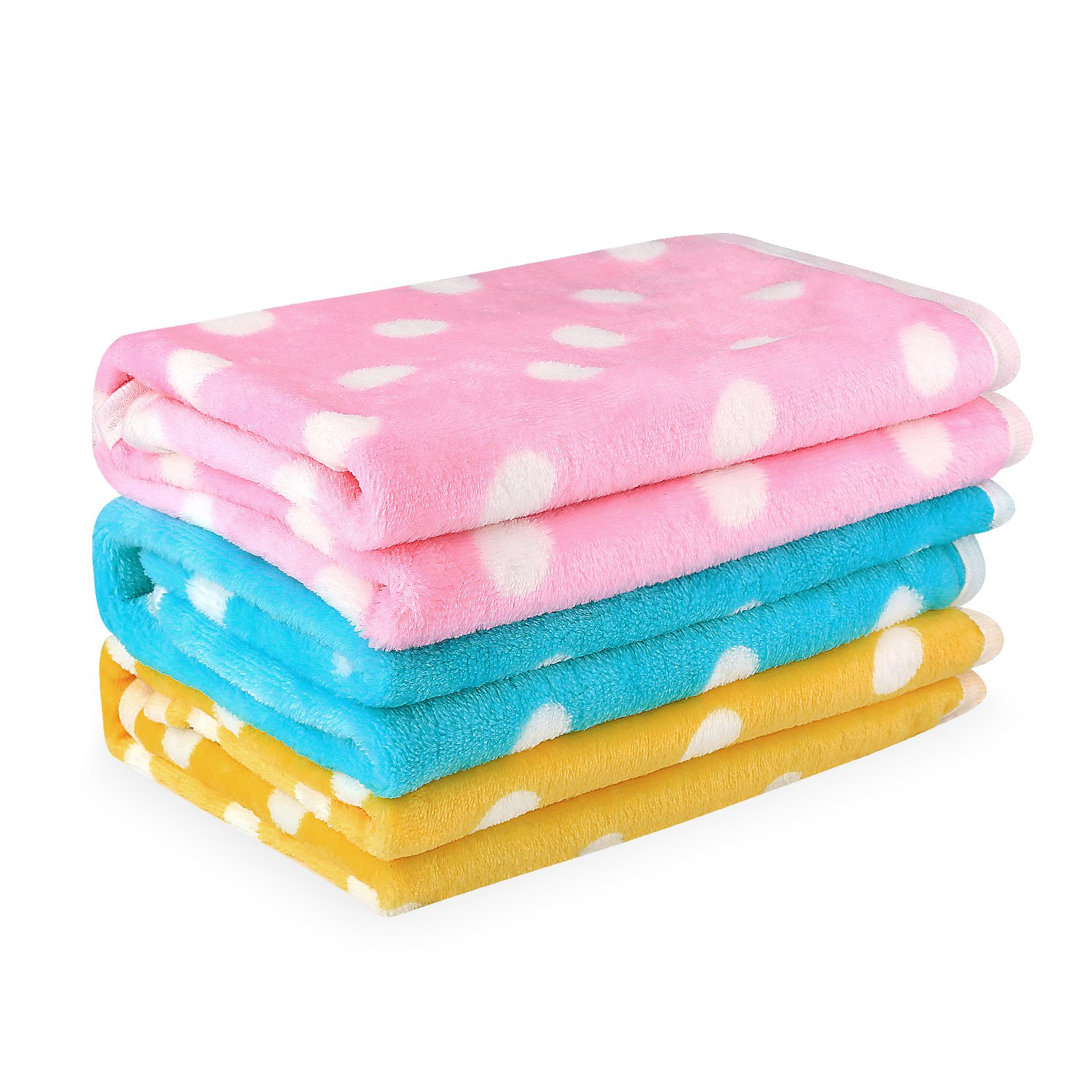 Pet Dog Blanket - Cat Puppy Blanket Soft Warm Sleep Mat - For Couch,Car, Bed - Dog Cat and Other Small Animals (Pink, Green,Yellow-3)