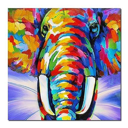 Amazon Com Art Original Design Modern Abstract Elephant