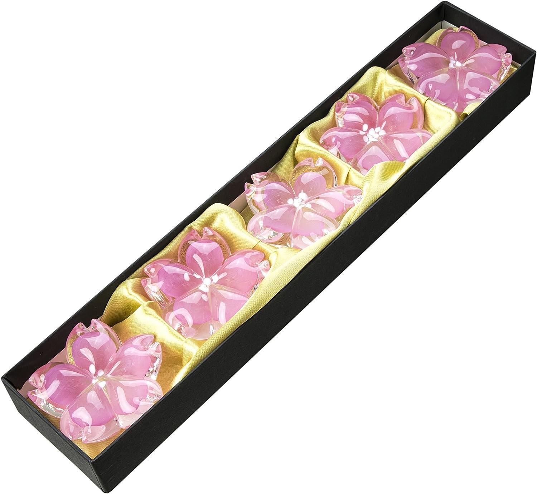 博多びーどろ 桜の箸置きセット