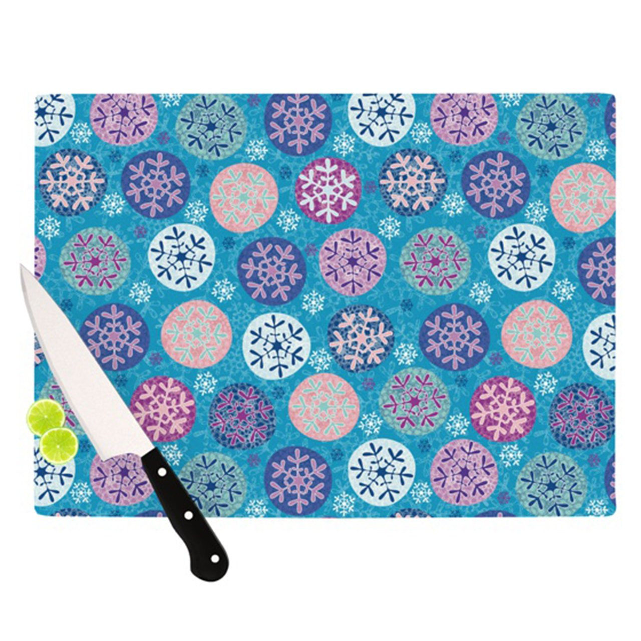 Kess InHouse Julia Grifol Floral Winter Cutting Board, 11.5 by 15.75-Inch