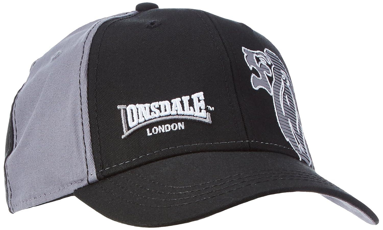 31792497 Lonsdale Clovelly of London CAP Multi-Coloured black/grey Size:One Size:  Amazon.co.uk: Sports & Outdoors