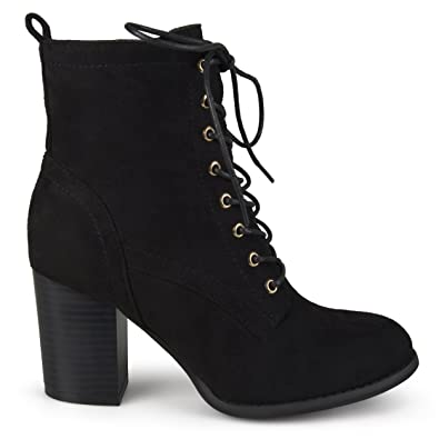 11e6339cf9 Amazon.com | Brinley Co Women's Birdie Combat Boot | Ankle & Bootie