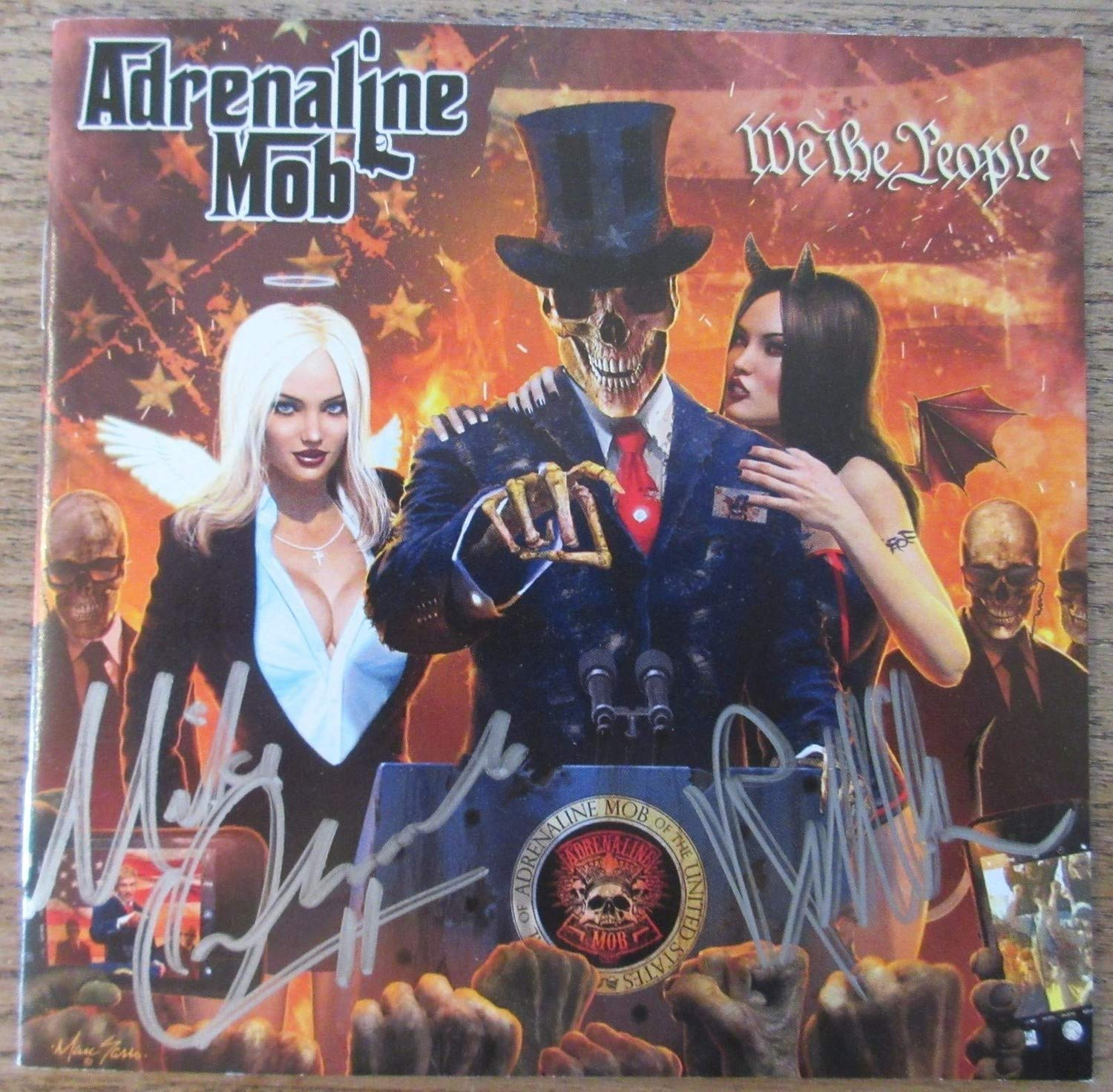 Adrenaline Mob Mike Orlando Russell Allen Autographed Signed Cd Booklet Beckett Authentic