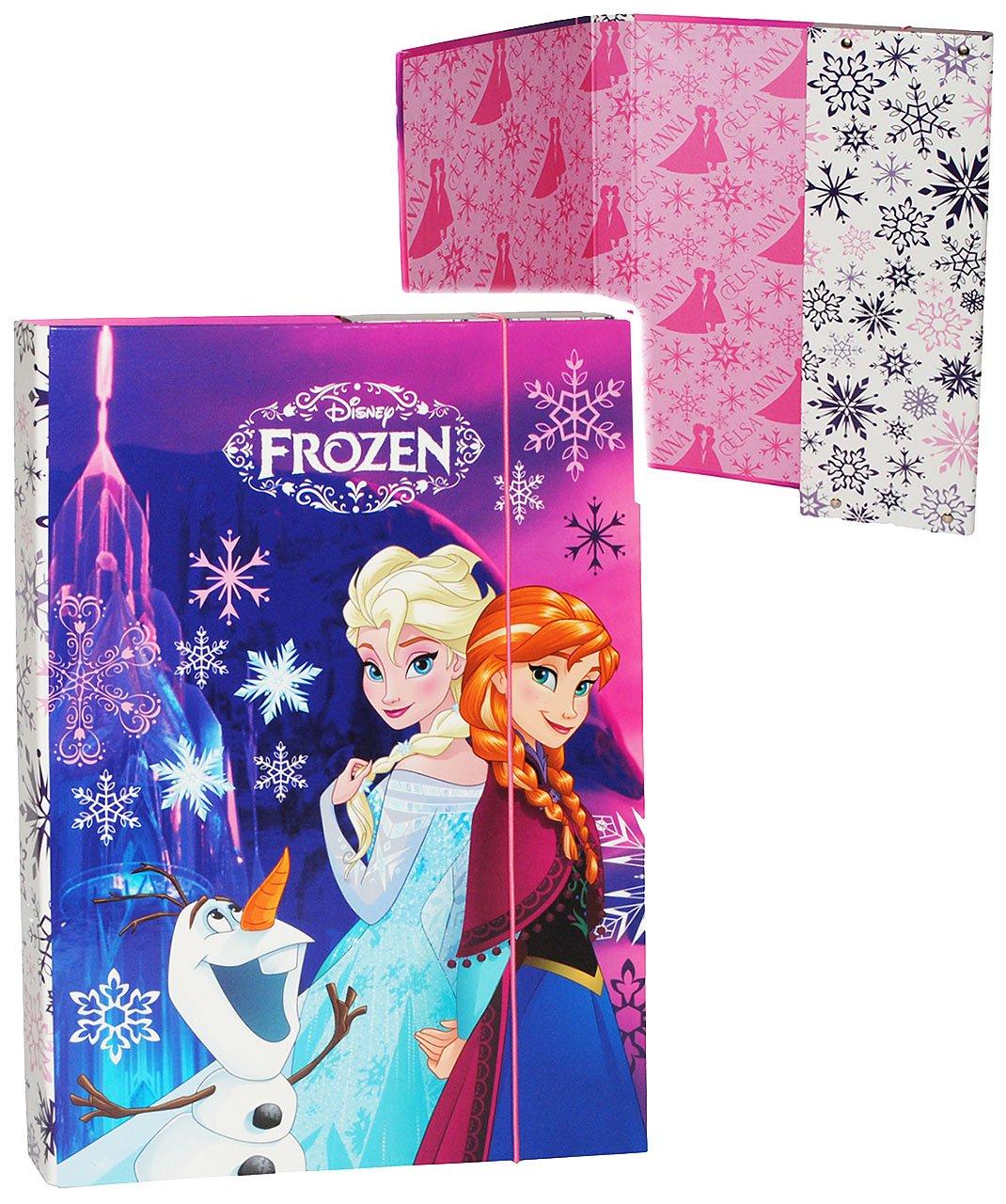 Unbekannt Heftbox / Ordner A4 - Disney die Eiskönigin / Frozen - incl. Name - für Hefte, Zettel und Mappen - Mappe Ordnermappe / Ordnungsmappe Hefter - A 4 - Kinder.. Kinder-land
