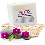 Pifito Premium Shea Butter Melt and Pour Soap Base (2 lb) - Natural Vegetable Glycerin Base - Excellent Hand Soap Base Making Supplies