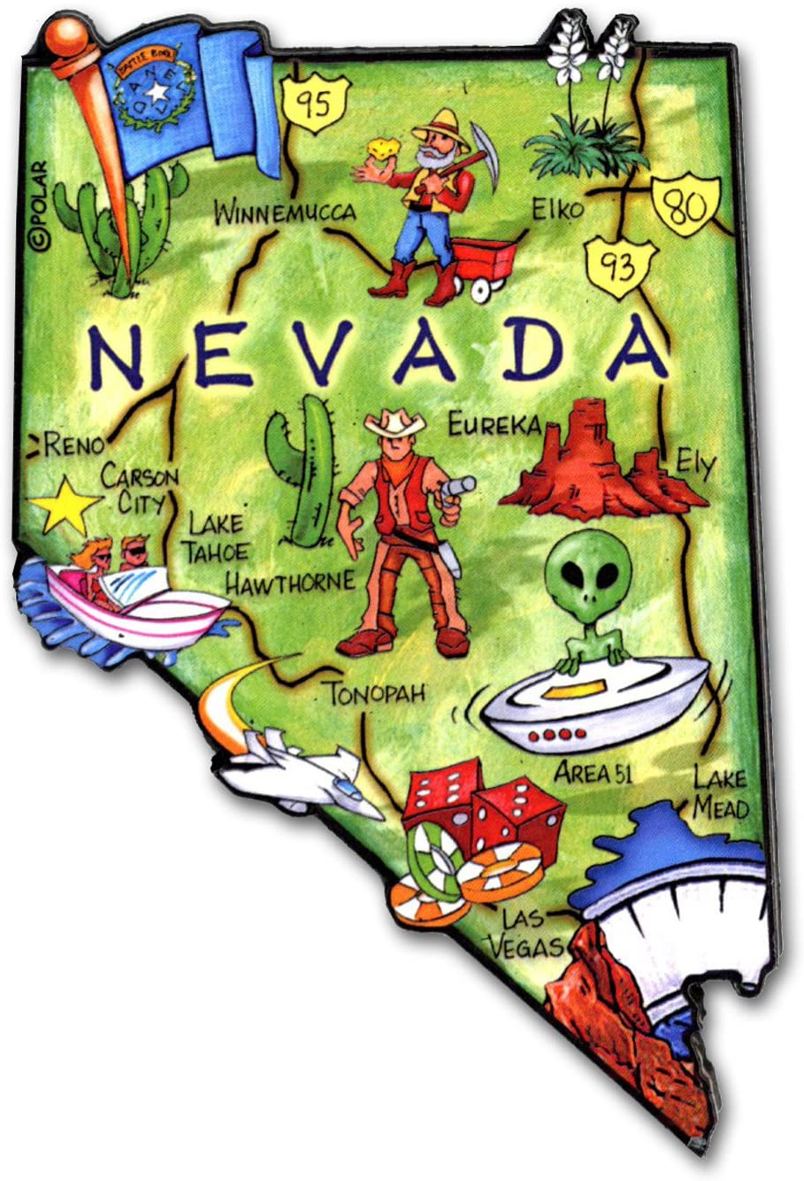 ARTWOOD MAGNET - NEVADA STATE MAP