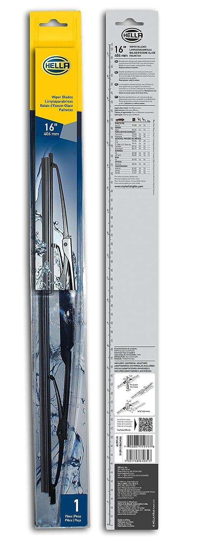 Hella 9 X w398114016/I estándar para limpiaparabrisas, 16