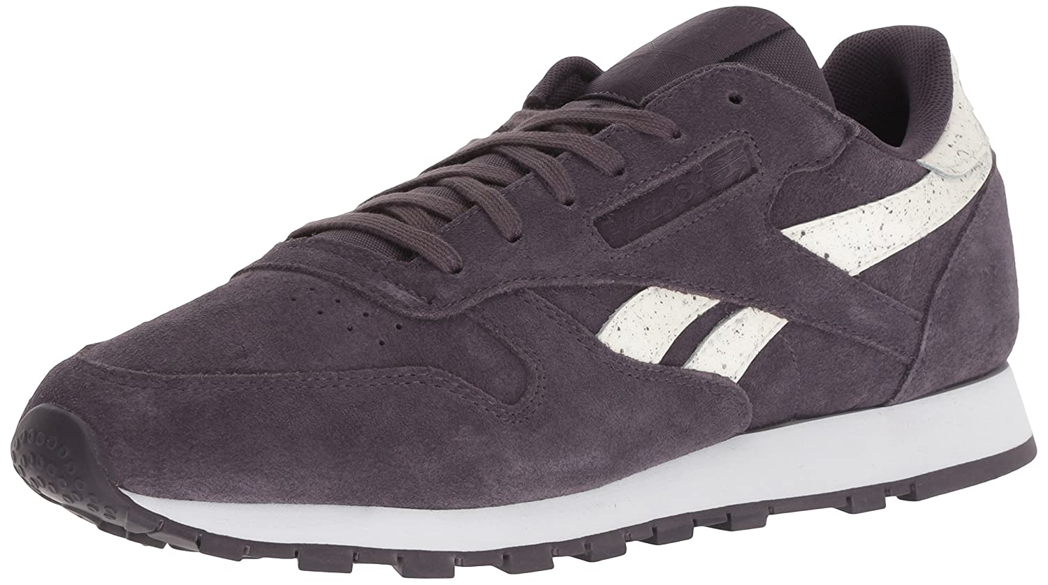 Reebok Women's Classic Leather Sneaker B077ZCCC7V 10 M US|Sidestripes -Smoky Volcan