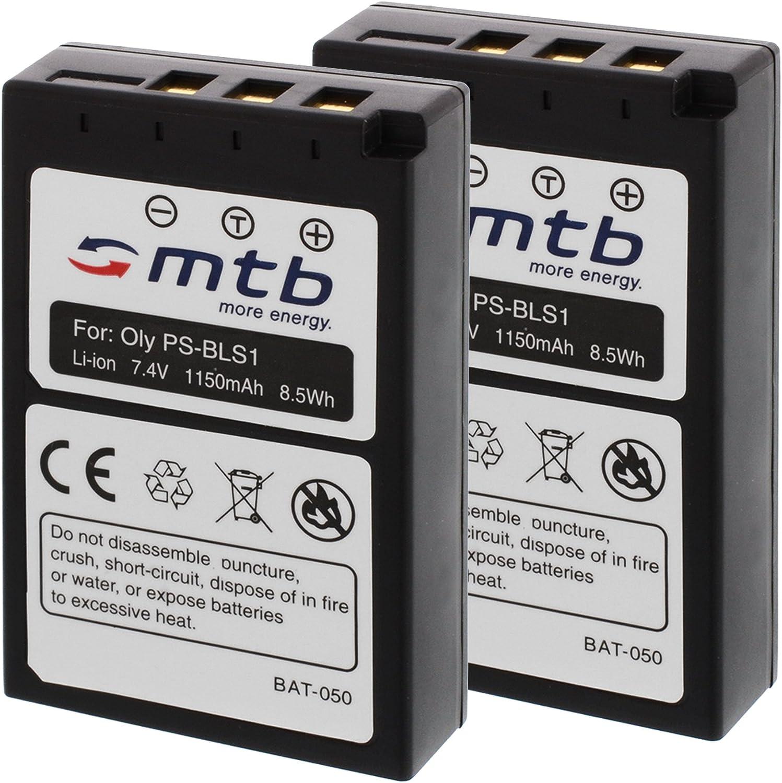 2X Baterías BLS-1 para Olympus E-400, E-410, E-420: Amazon.es ...