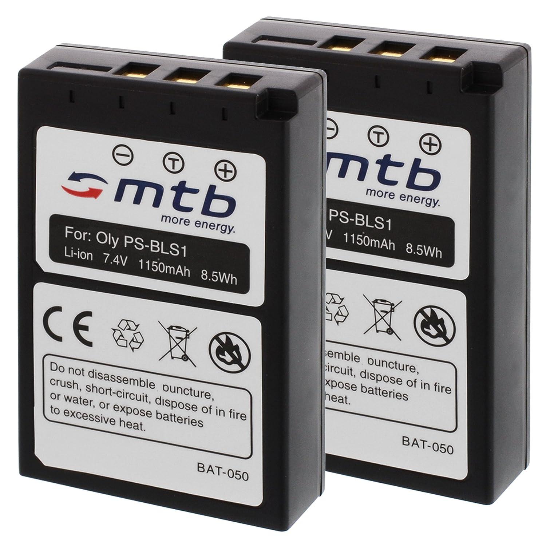 E-420 2X Bater/ías BLS-1 para Olympus E-400 E-410