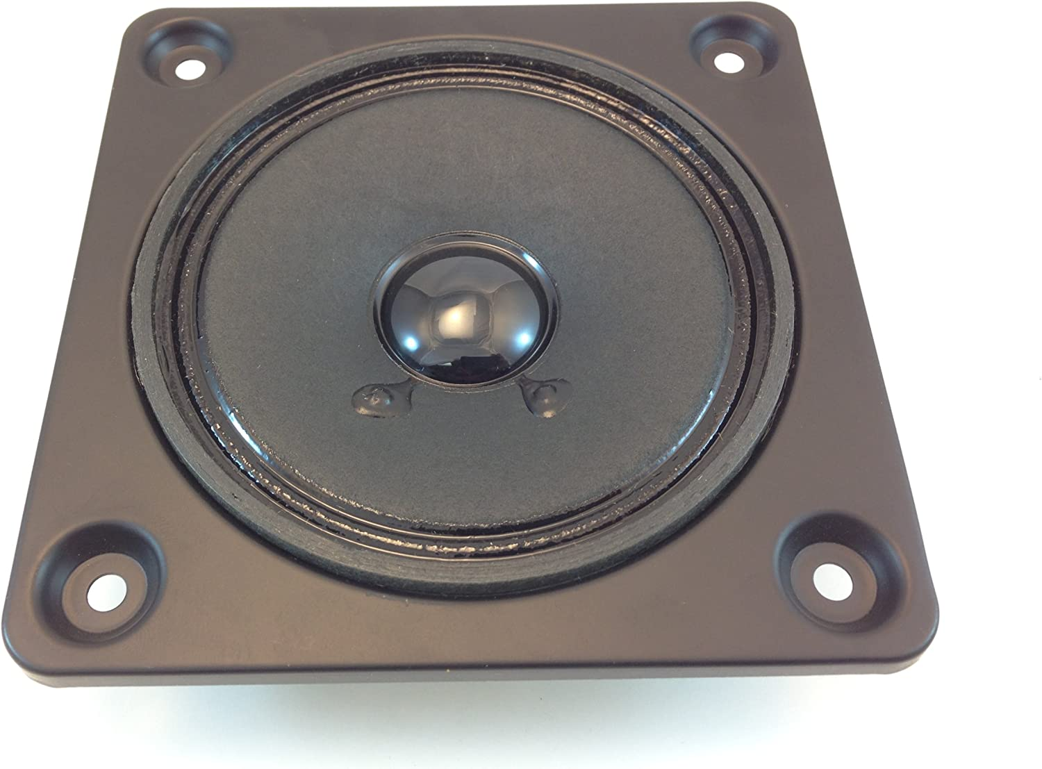 "NEW 4/"" Sq Mid Range Speaker.Four Inch Midrange Driver.Replacement Audio Part.Blk"