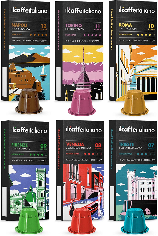 NESPRESSO 120 Cápsulas de café degustación - Kit café Italiano
