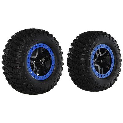 Traxxas 5885A BFGoodrich Mud-Terrain T/A KM2 Tires Pre-glued on Blue-Beadlock, SCT Split-Spoke Wheels (pair): Toys & Games [5Bkhe0203161]