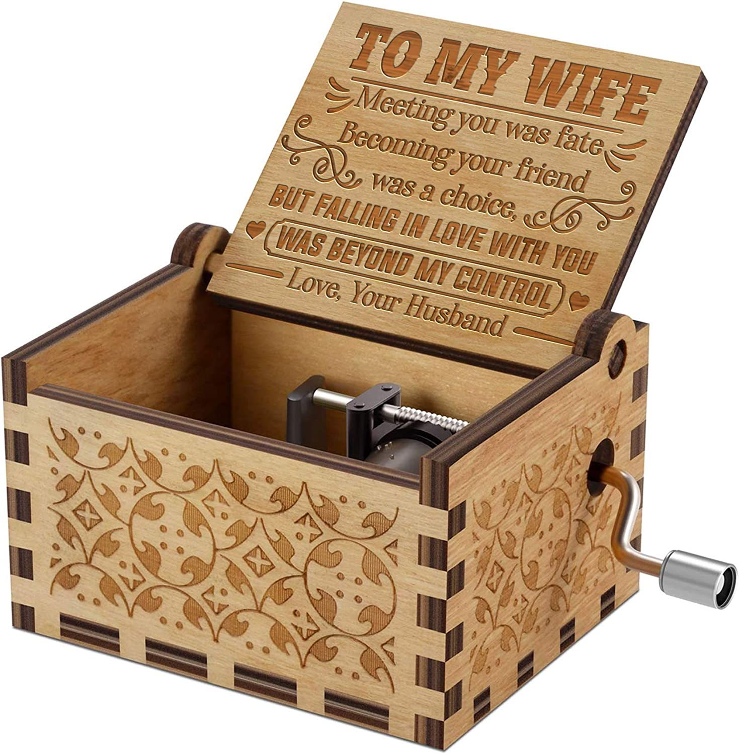 QUARTZILY Caja de música grabada You Are my Sunshine, Regalo para Esposa de Marido, Becoming Your Friend Was a Choice (AMZ-MB-051-HusWif): Amazon.es: Hogar