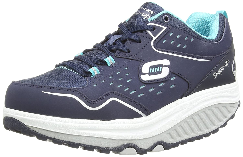 Skechers Women's Shape Ups 2.0 Perfect Comfort Fashion Sneaker B00R1OOJF0 8.5 B(M) US|Navy/Light Blue