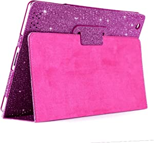 iPad 2/3/4 Glitter Case,FANSONG Sparkle Bling PU Leather Smart Cover [Flip Stand Function] [Auto Sleep/Wake] Case for Apple iPad 2/3/4 (Bling Purple)