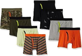 Amazon Essentials Calzoncillos Tipo bóxer de algodón Niños, Pack de 8