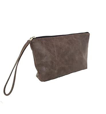 564929d8eeb9 Image Unavailable. Image not available for. Color  Fgalaze Distressed Brown  Leather Clutch Bag ...