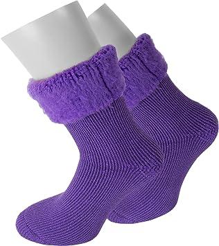 3 pares super calientes calcetines térmicos, Polar Husky, perfecto para botas, color Extrem/Hot/Lila, tamaño 35/38: Amazon.es: Deportes y aire libre