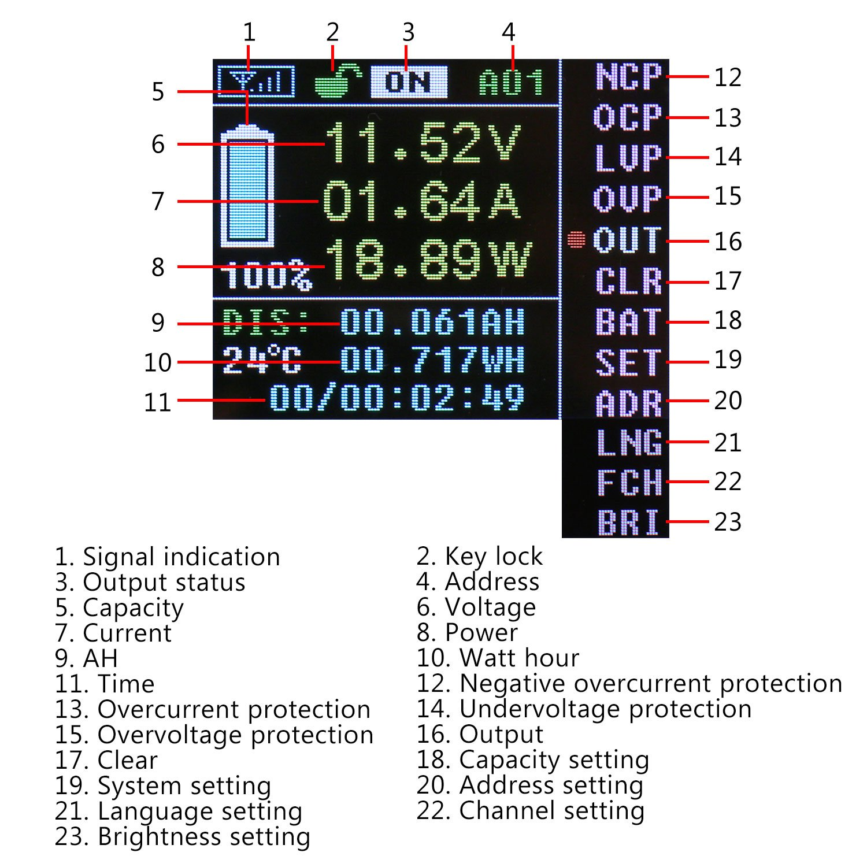 Battery Monitor Panel Drok Digital Voltmeter Ammeter 0 100v 30a Wiring Box Mod Dc Lcd Display Wireless Bi Directional Voltage Current Power Meter Ah Time Watt Hour