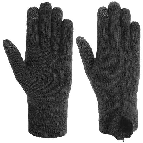Guanti a Maglia Touch con Pompon UGG guanti da donna guanti a maglia Taglia unica – nero