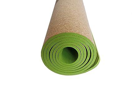 Yatay corcho y TPE Yoga Mat, antideslizante respetuoso con ...