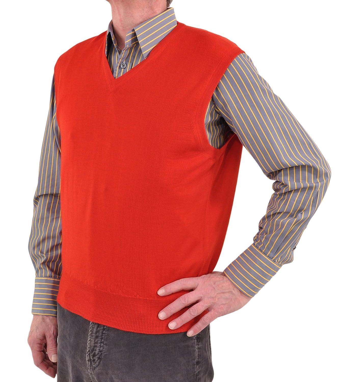 Gran Sasso ExtraFine Merino Wool Sleeveless V-Neck Sweater