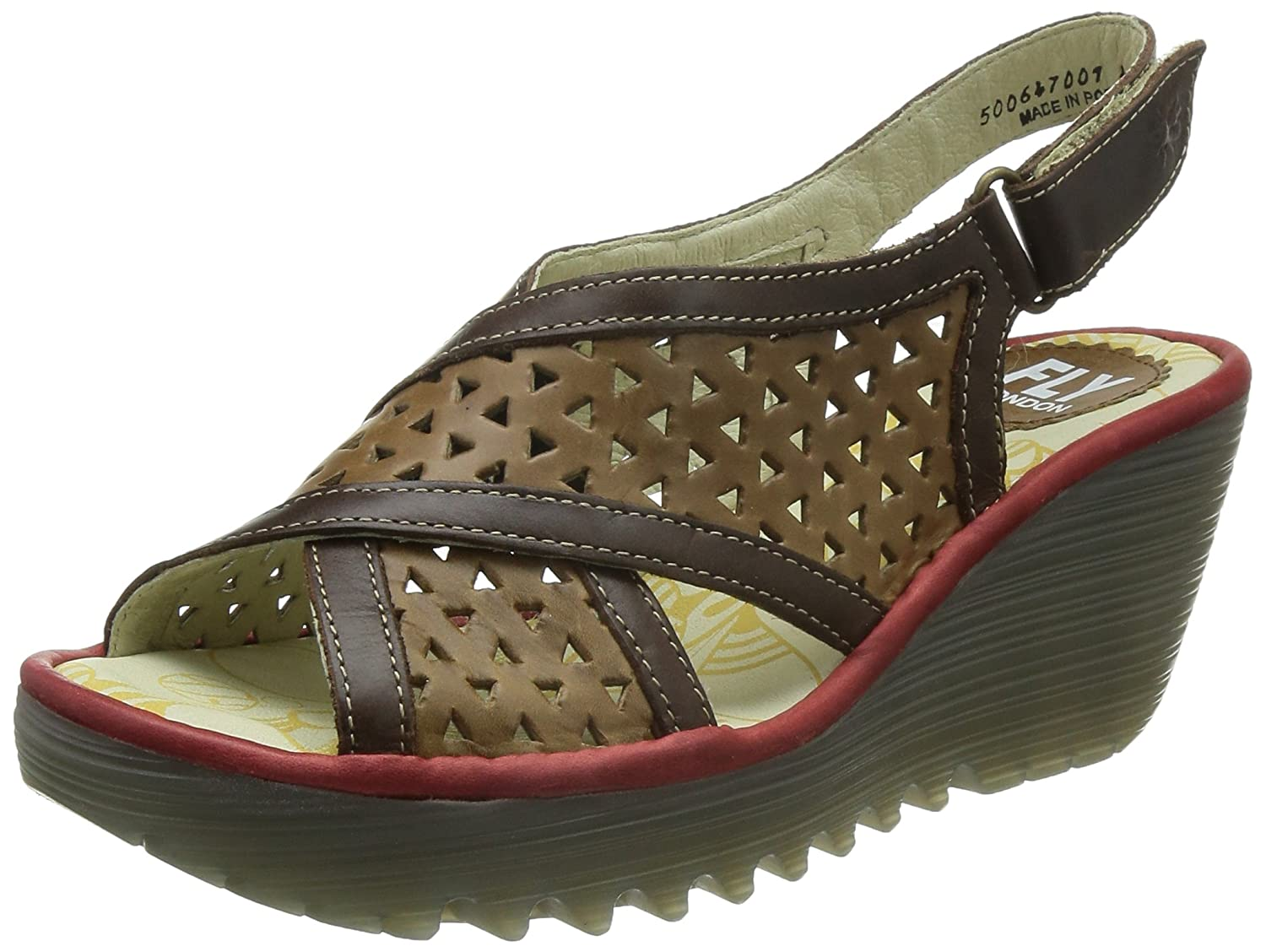 Fly London Femme P500647Sandales Brown Marroncameldk 76gvbIYfy