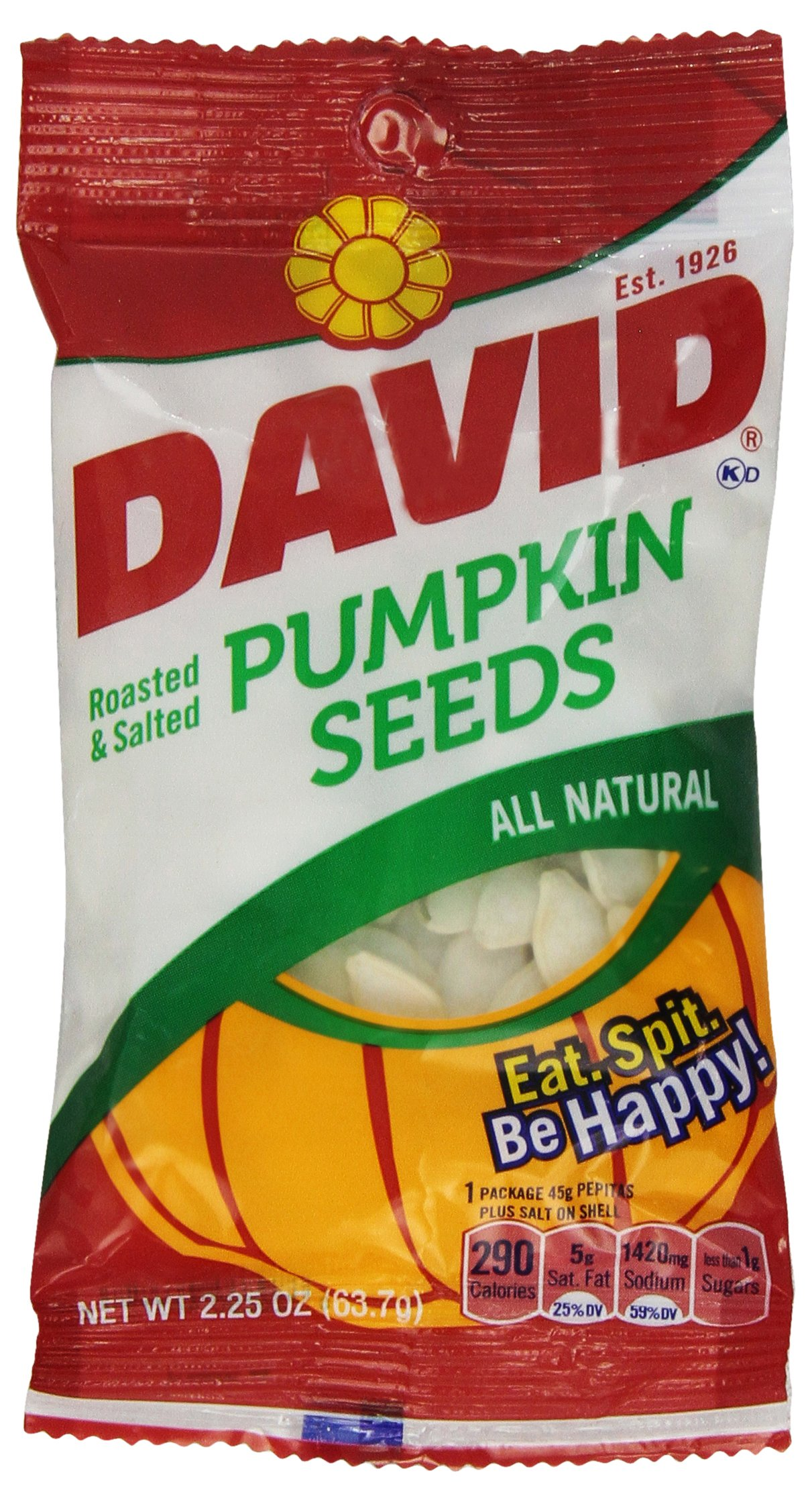 David's Pumpkin Seeds, 2.2500-ounces (Pack of12)