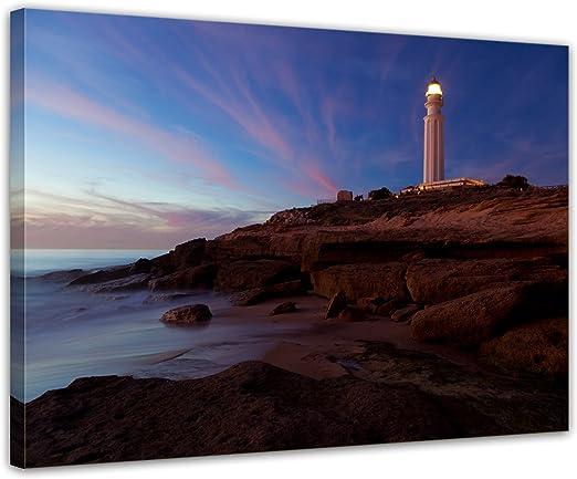 Bilderdepot24 Cuadros en Lienzo Faro de Trafalgar, Cadiz XXL ...