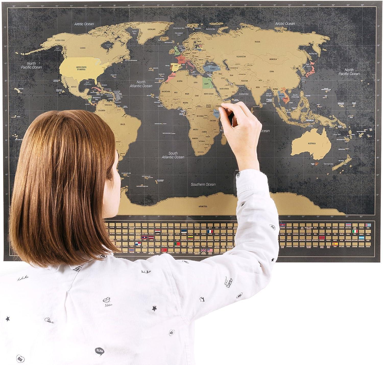 Cartina Mondo Da Riempire.Mappa Del Mondo Con Bandiere Xxl Da Grattare Bonus A4 Mappa Del Regno Unito Nero 84 X 58 Cm Amazon It Cancelleria E Prodotti Per Ufficio