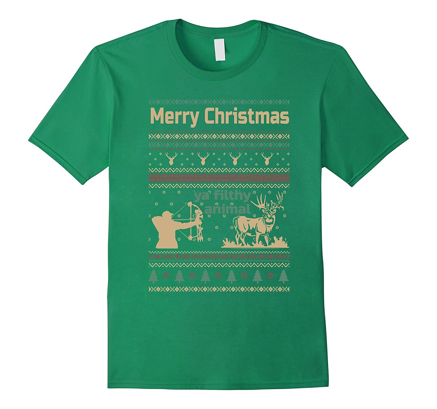 hunting shirt- Hunting christmas ugly sweater gift-CL