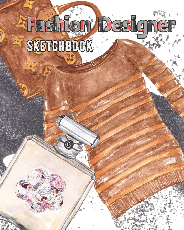 Fashion Designer Sketchbook With Ready To Dress Figure Template Rainbow Cloud Press 9781709750649 Amazon Com Books