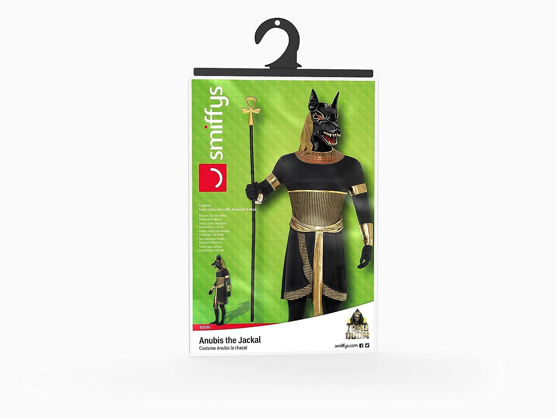 Smiffys Disfraz de Anubis el chacal, Negro, con túnica, cuello, brazaletes, muñequeras y: Amazon.es: Juguetes y juegos