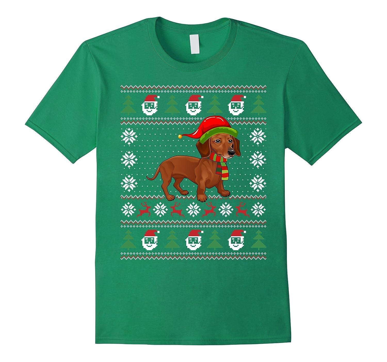 Dachshund Ugly Christmas sweater Tshirt gift woman men kid-ANZ
