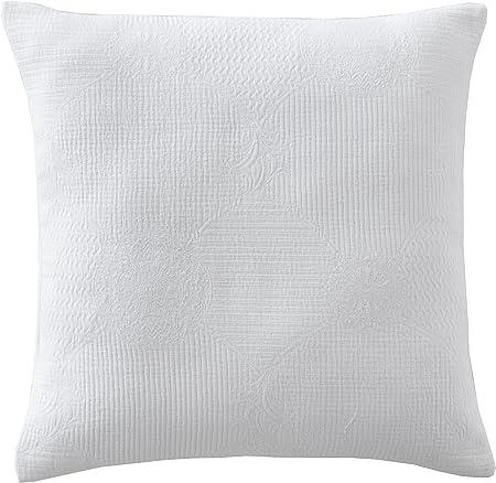 Blanc des Vosges Verona Envolvente de cojín (algodón, 40 x 40 cm), Color Blanco: Amazon.es: Hogar