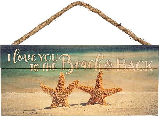 Amazon.com: Love You a la Playa y trasera estrella de mar ...
