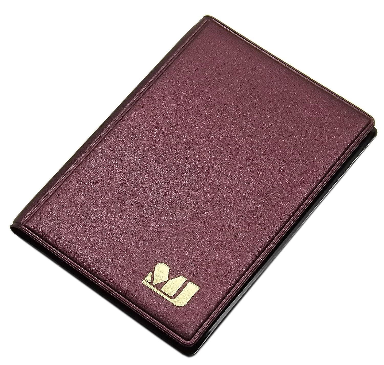 Pr/áctica tarjetero para tarjeta de cr/édito y tarjeta de visita 12 bolsillos MJ-Design-Germany en varios colores Marr/ón // Oro