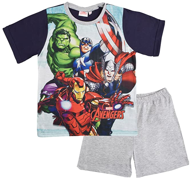 Boys Shortie Pyjamas with Marvel Avengers detail size 9-10 Years