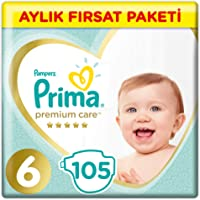 Prima Bebek Bezi Premium Care 6 Beden Junior Aylık Fırsat Paketi, 105 Adet