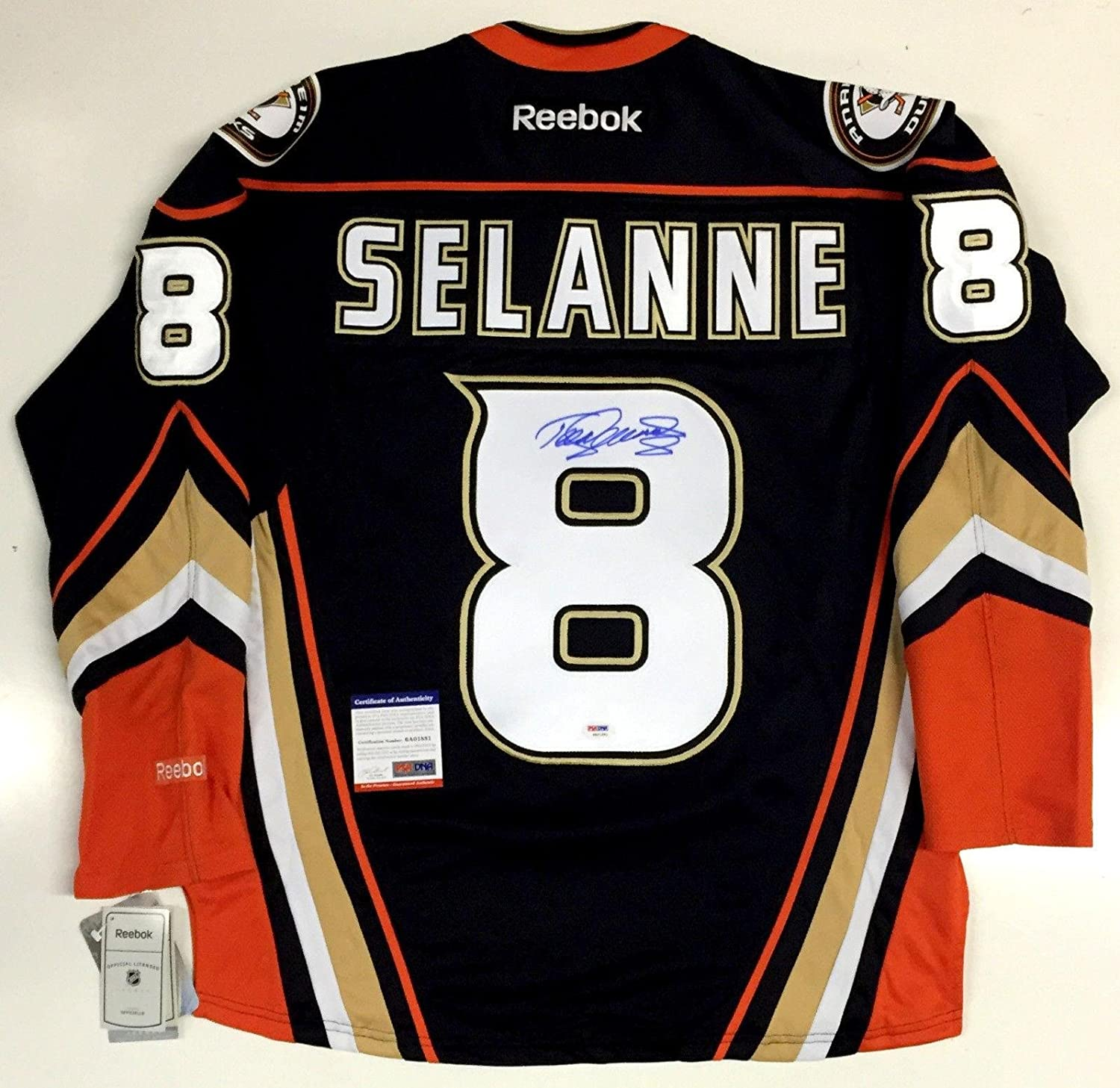 separation shoes 82fa3 ca730 Teemu Selanne Anaheim Ducks Signed Jersey With