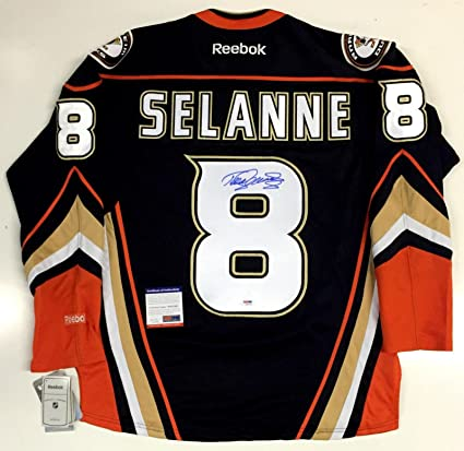 separation shoes e484c e7ea0 Teemu Selanne Anaheim Ducks Signed Jersey With